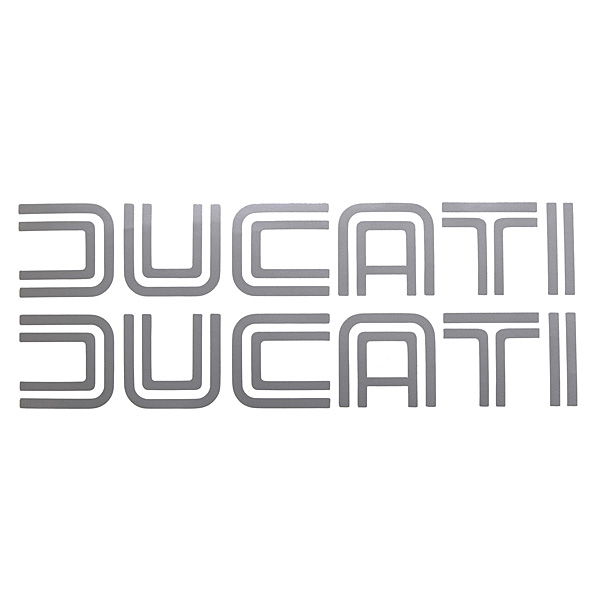 DUCATI旧ロゴステッカー (切文字タイプ/2枚セット)<br><font size=-1 color=red>11/19到着</font>