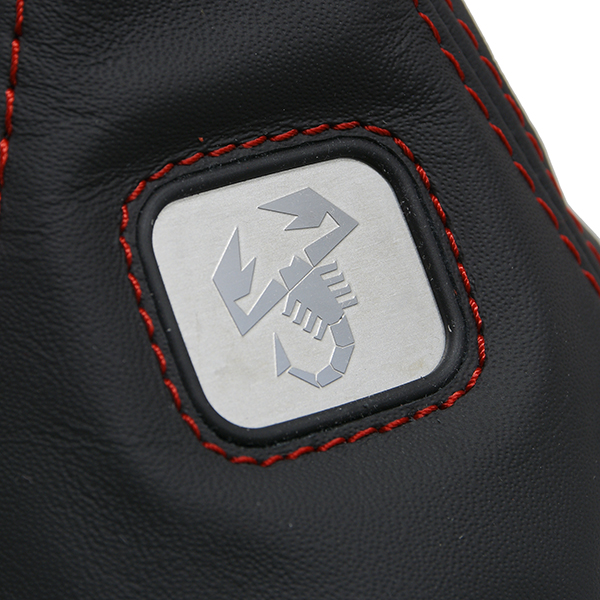 500 ABARTH Leather Shift Boots(Black/Red Steach/Scorpione Plate)