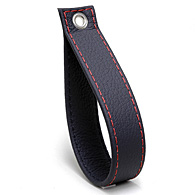 ABARTH 500 Rear Gate Leather Strap (Black/Red Steach)