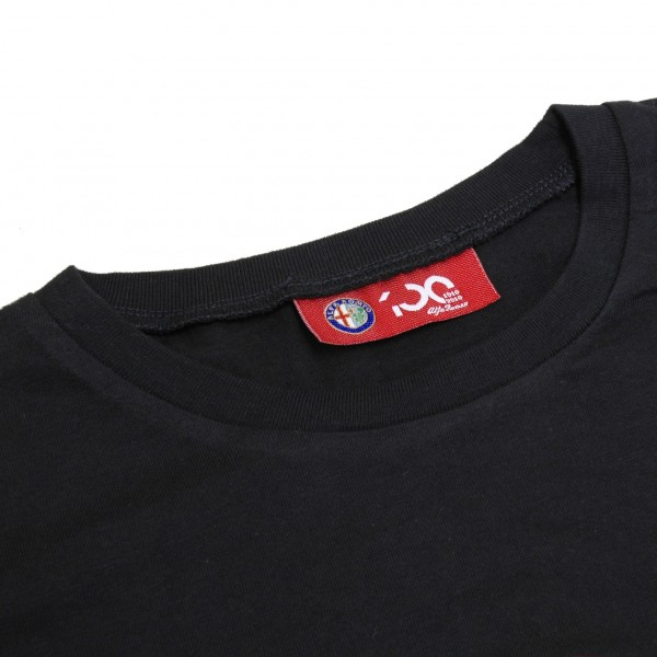 Alfa Romeo 100 anni Memorial T-Shirts (Black/Red Logo)