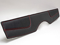 FIAT NEW 500 Leather Tonneau Cover (Black/Red Steach)