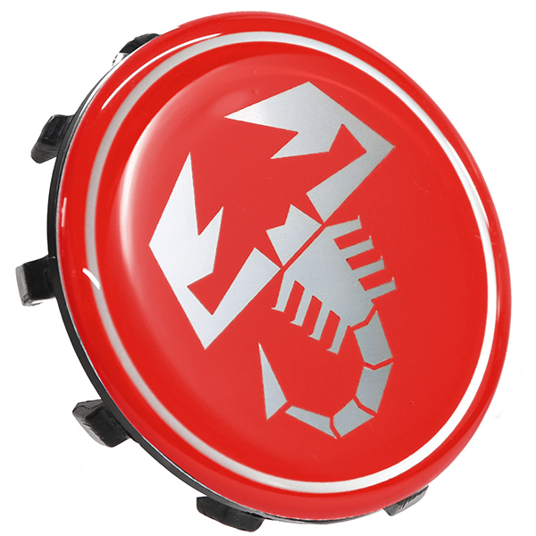ABARTH 500 Wheel Center Cap (Scorpione/Red) 60mm