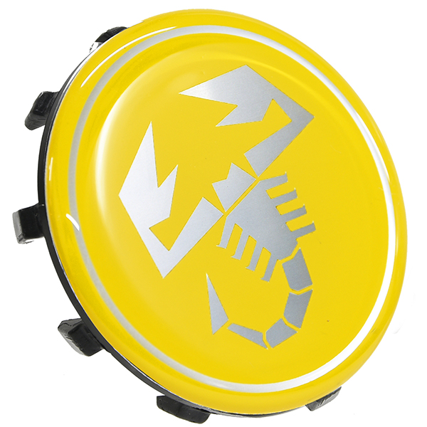 ABARTH 500 Wheel Center Cap (Scorpione/Yellow) 60mm
