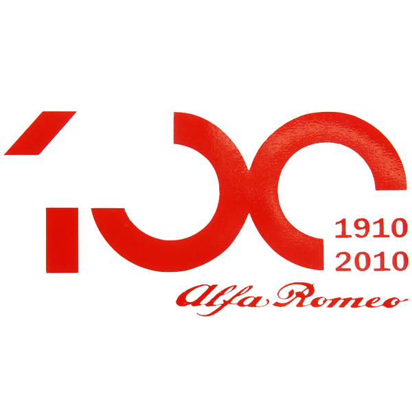 Alfa Romeo 100anni Logo Sticker(Small/die-cut)