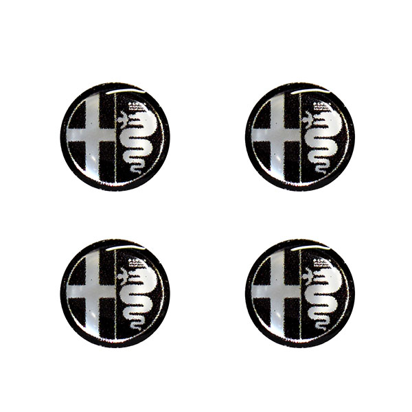 Alfa Romeo Emblem 3D Sticker Set (Mono Tone/12mm/4pcs.)