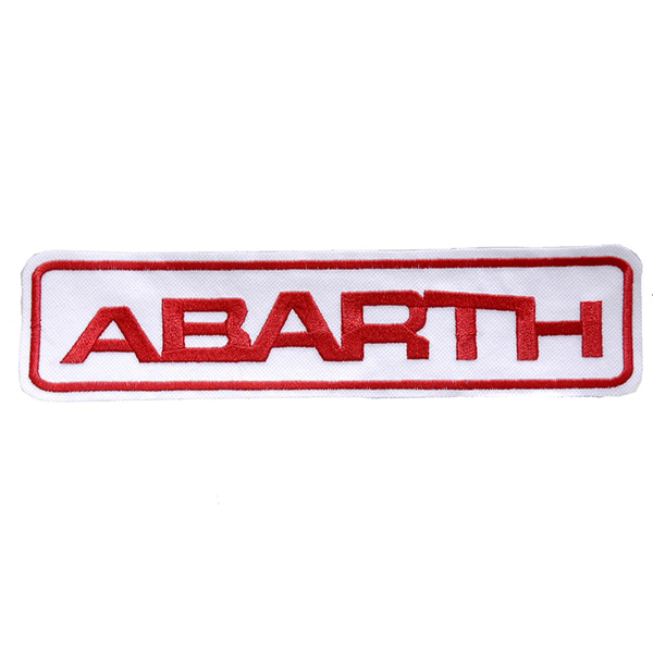 ABARTH Logo Patch(Large/White Base)
