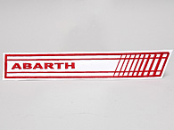 ABARTH Stripe Patch (White/Red Logo)
