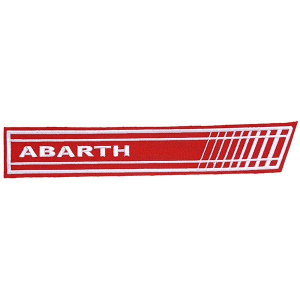 ABARTH Stripe Patch (Red/White Logo)
