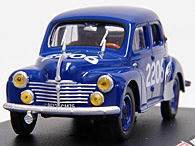 1/43 1000 MIGLIA Collection No.43 Renault 4CV Miniature Model