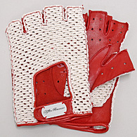 Alfa Romeo Driving Gloves (Red/Mesh/Half)