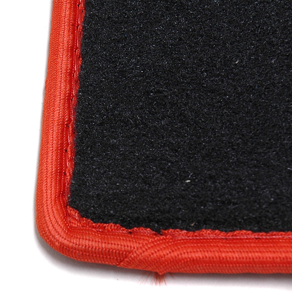 FIAT NEW 500/ABARTH 500 Ruggage Mat (Black/ABARTH/Red Piping)