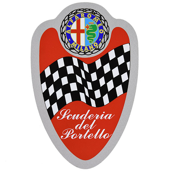 SCUDERIA DEL PORTELLO Emblem Sticker(70mm*110mm)