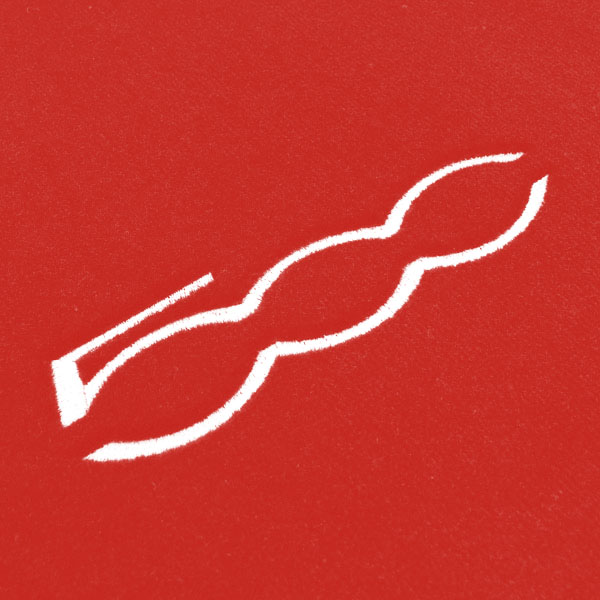 FIAT NEW 500 Luggage Mat (Red/500 White Logo)