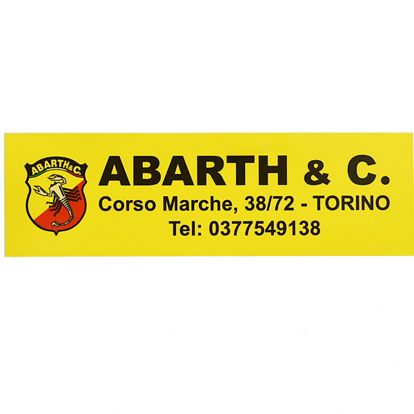 ABARTH & C Replica Sticker