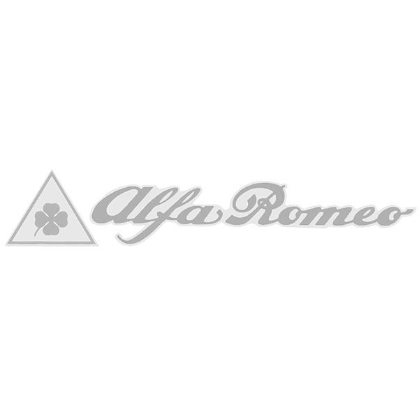 Alfa Romeo logo & Quadrifoglio Sticker (Die Cut/145mm)