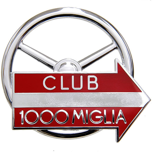 CLUB 1000 MIGLIA Grill Emblem(Chrome Silver)