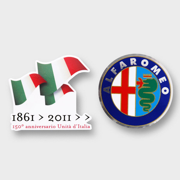 ITALIA 150 Memorial Sticker (Die Cut/Alfa Romeo)