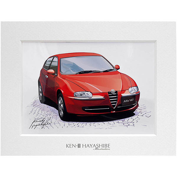 Alfa Romeo 147 (Rosso)イラストレーション by林部研一