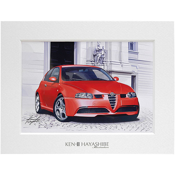 Alfa Romeo 147GTA Illustration by Kenichi Hayashibe