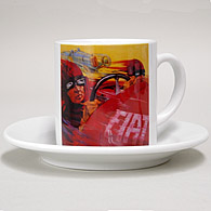 FIAT Cup & Saucer (Old Poster)