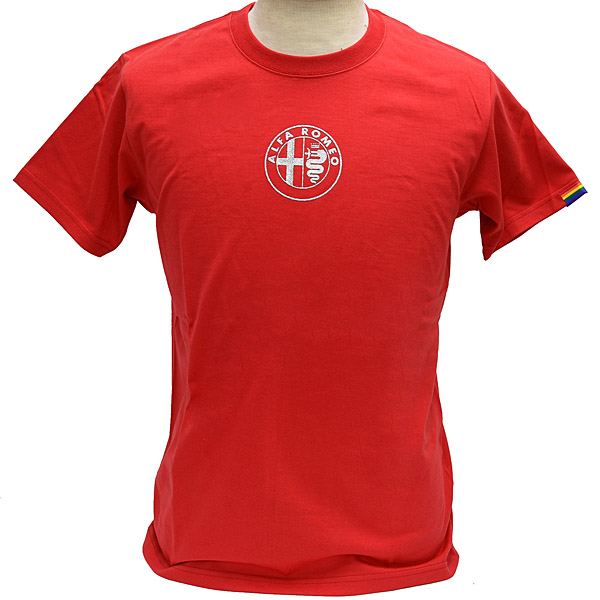 Alfa Romeo Emblem T-shirts (Red/for men)<br><font size=-1 color=red>08/30到着</font>