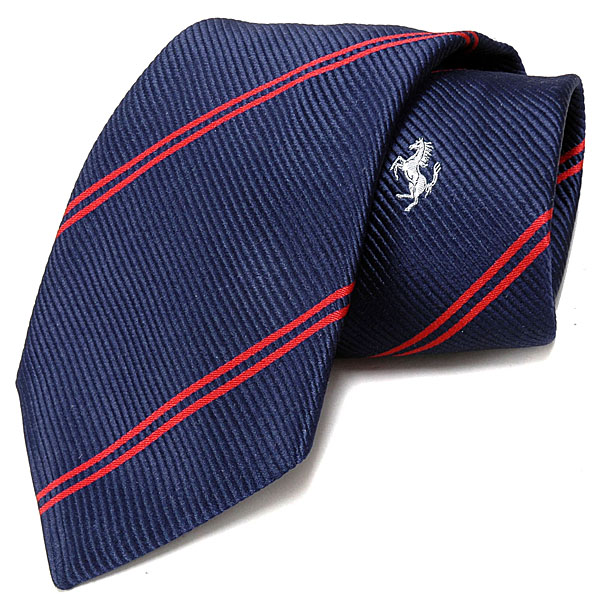 Ferrari Regimental Neck Tie (Navy/Red)