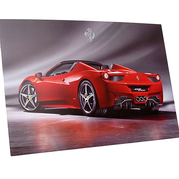Ferrari 458 Spider Promotion Card
