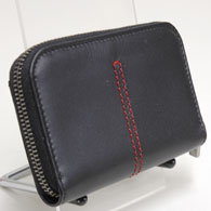 Ferrari Leather Coin Purse by TOD'S(Black)
