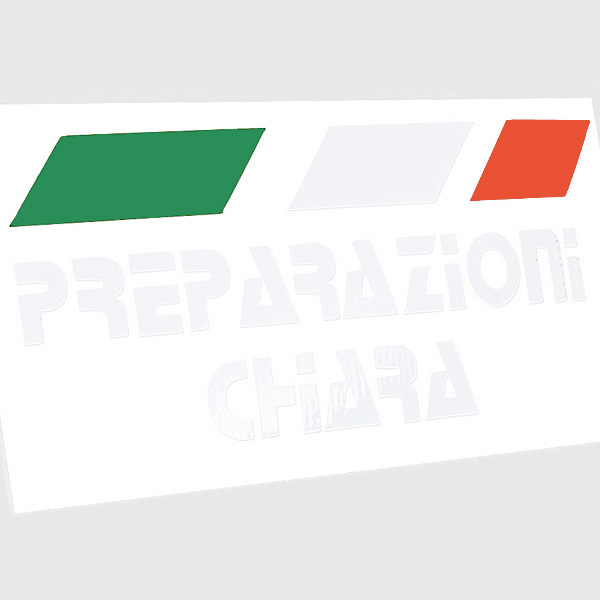PREPARAZIONI CHIARA Sticker (Die Cut/White+Tri Color)