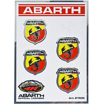 ABARTH Emblem Sticker (28mm/4pcs.)-21502-