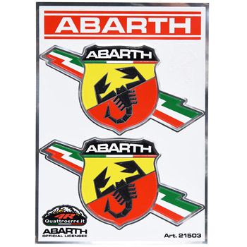 ABARTH Flash Emblem Sticker (2pcs.)-21503-