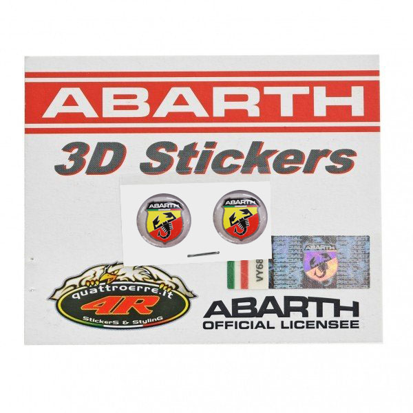 ABARTH 3D Emblem Sticker (Round/12mm/2pcs.)-21535-