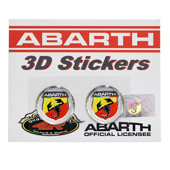 ABARTH Emblem 3D Sticker(Round/21mm/2pcs.)-21536-