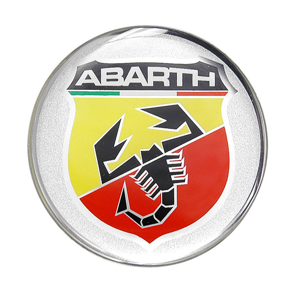 ABARTH 3D Emblem Sticker (Round/50mm)-21537-