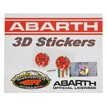 ABARTH 3D SCORPIONE Sticker(Round/12mm/2pcs.)-21538-