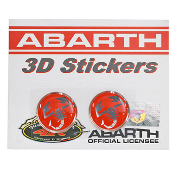ABARTH 3D SCORPIONE Sticker(Round/21mm/2pcs.)-21539-