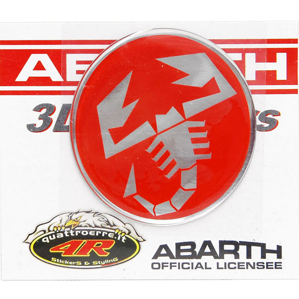 ABARTH 3D SCORPIONE Sticker(Round/50mm)-21540-<br><font size=-1 color=red>02/07到着</font>