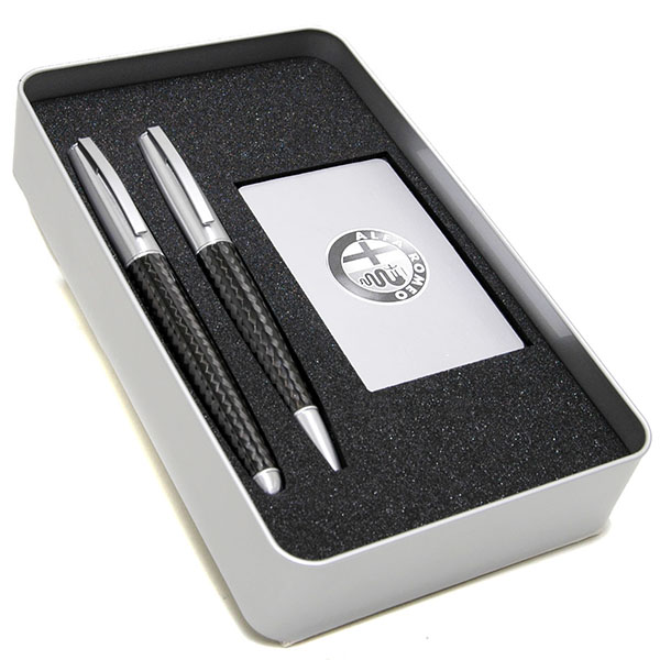 Alfa Romeo Ball Point Pen & Fountain Pen Set (Carbon Body)