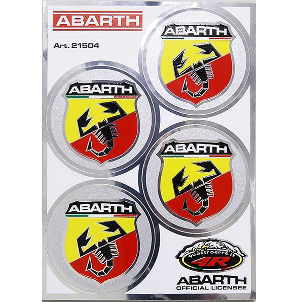 ABARTH Emblem Round Sticker (4pcs./48mm)-21504-