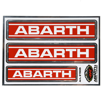 ABARTH Logo Stickers (3pcs.)-21505-