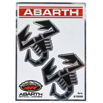 ABARTH Scorpione Stickers (2pcs./Black)-21506-