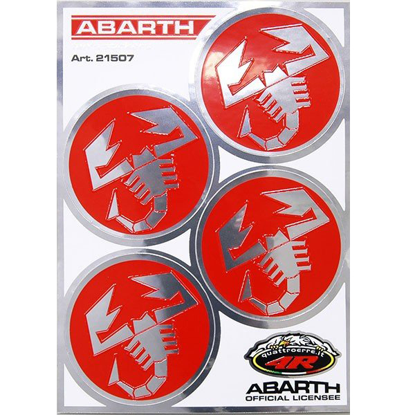 ABARTH Scorpione Round Stickers (4pcs./48mm)-21507-