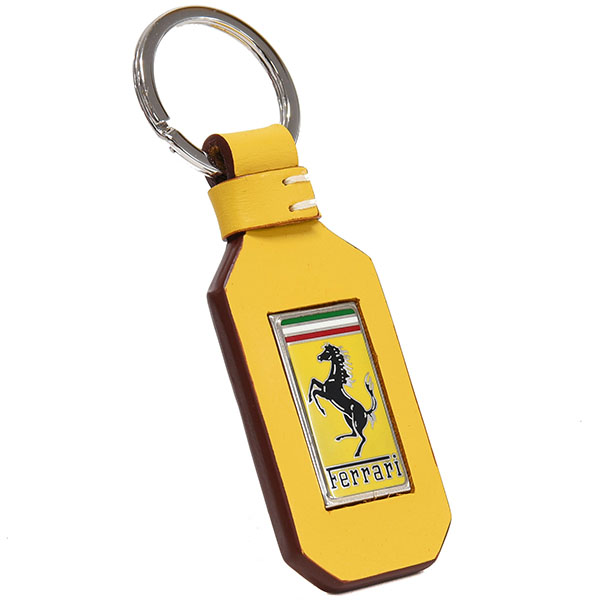 Ferrari GT Leather Keyring (Yellow)