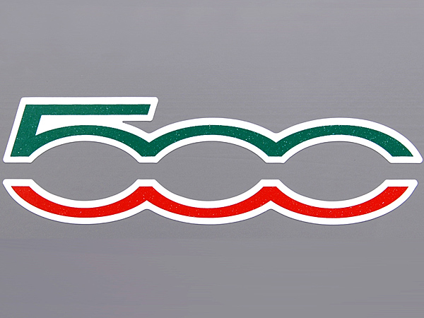 FIAT 500 Logo Sticker (Die Cut/Tri Color)