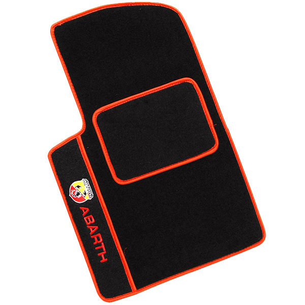 ABARTH 500 Floor Mats (LHD/Black/Red)