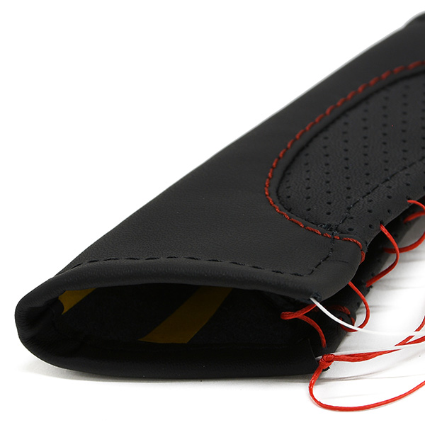 Alfa Romeo Giulietta Leather Hand Brake Grip Cover (Black/Red Steach)