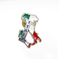 ITALIA Pin Badge (Map)