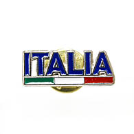 ITALIA Pin Badge (Logo & Flag)
