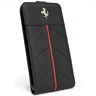 Ferrari GALAXY S2 Flap Type Case(Black/Red Line)