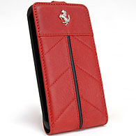Ferrari GALAXY S2 Flap Type Case (Red/Black Line)
